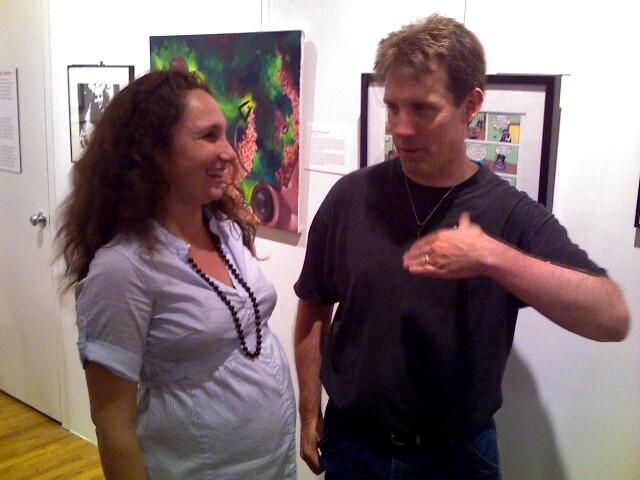 Lauren Weinstein and CH at MoCCA