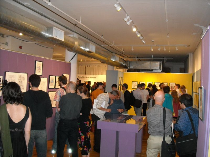 The reception at MoCCA's Mazzucchelli exhibit