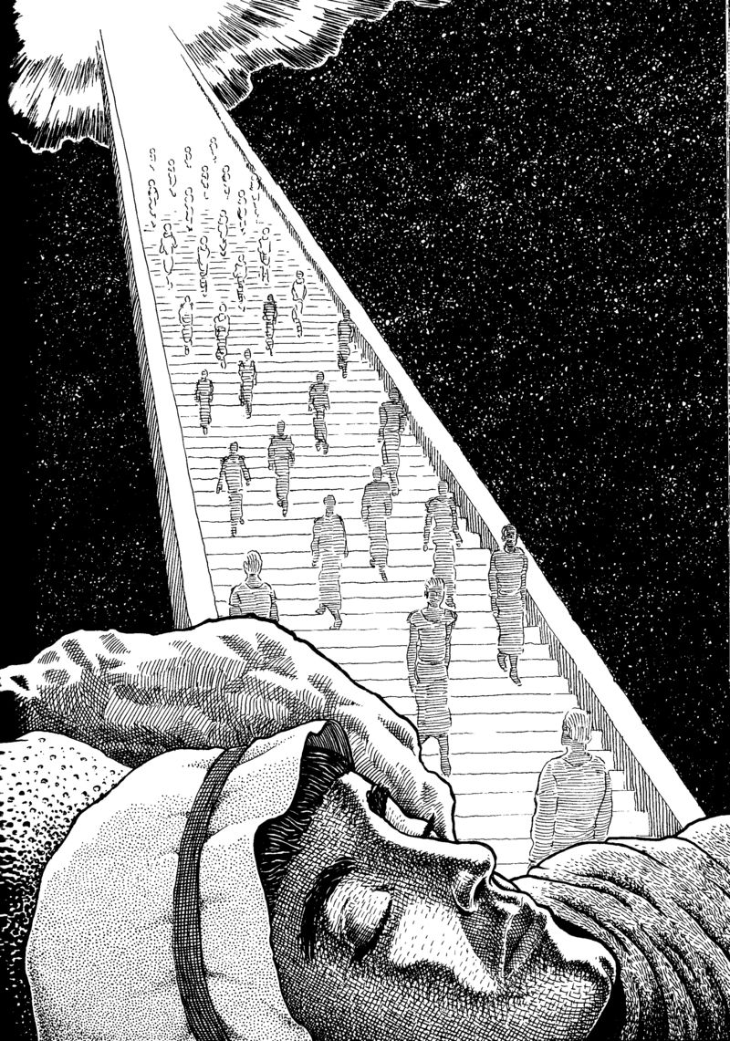 Jacob's Ladder (Genesis, Ch. 28) by Basil Wolverton