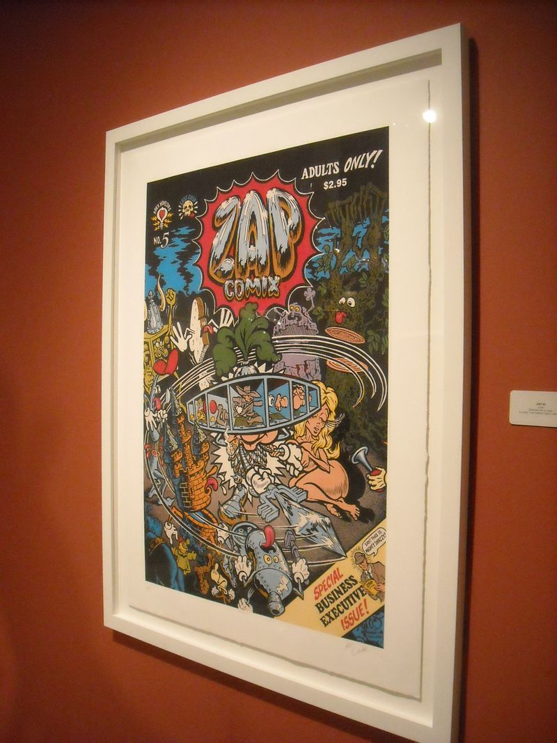 Silkscreen of Williams' cover to Zap Comix #5 (1970)
