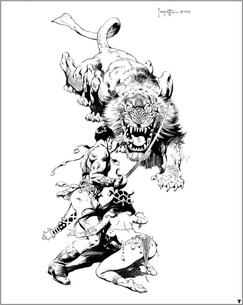 Banth and friends, by Frank Frazetta (1972)