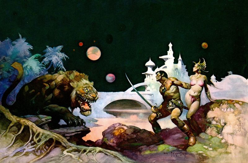 Same subject, different angle, again by Frazetta