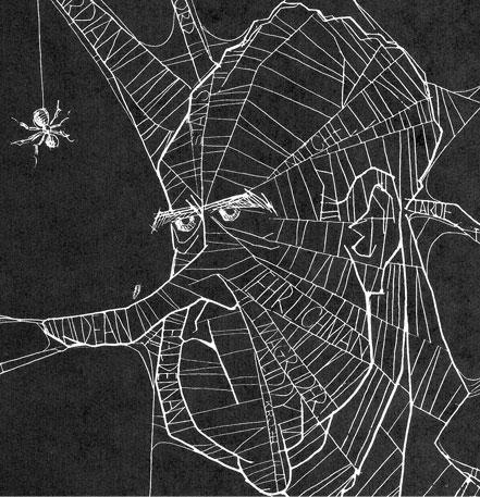 Nixon as tangled web, by Paul Conrad